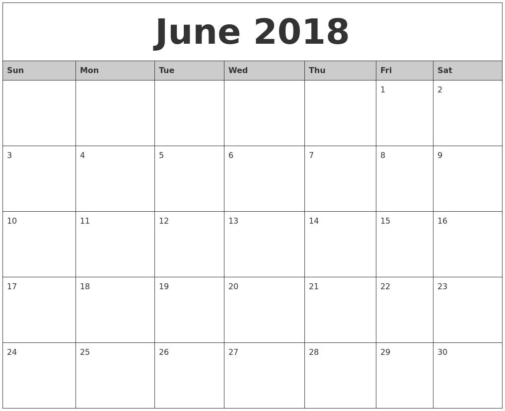 Full Page Monthly Calendar Printable - Template Calendar