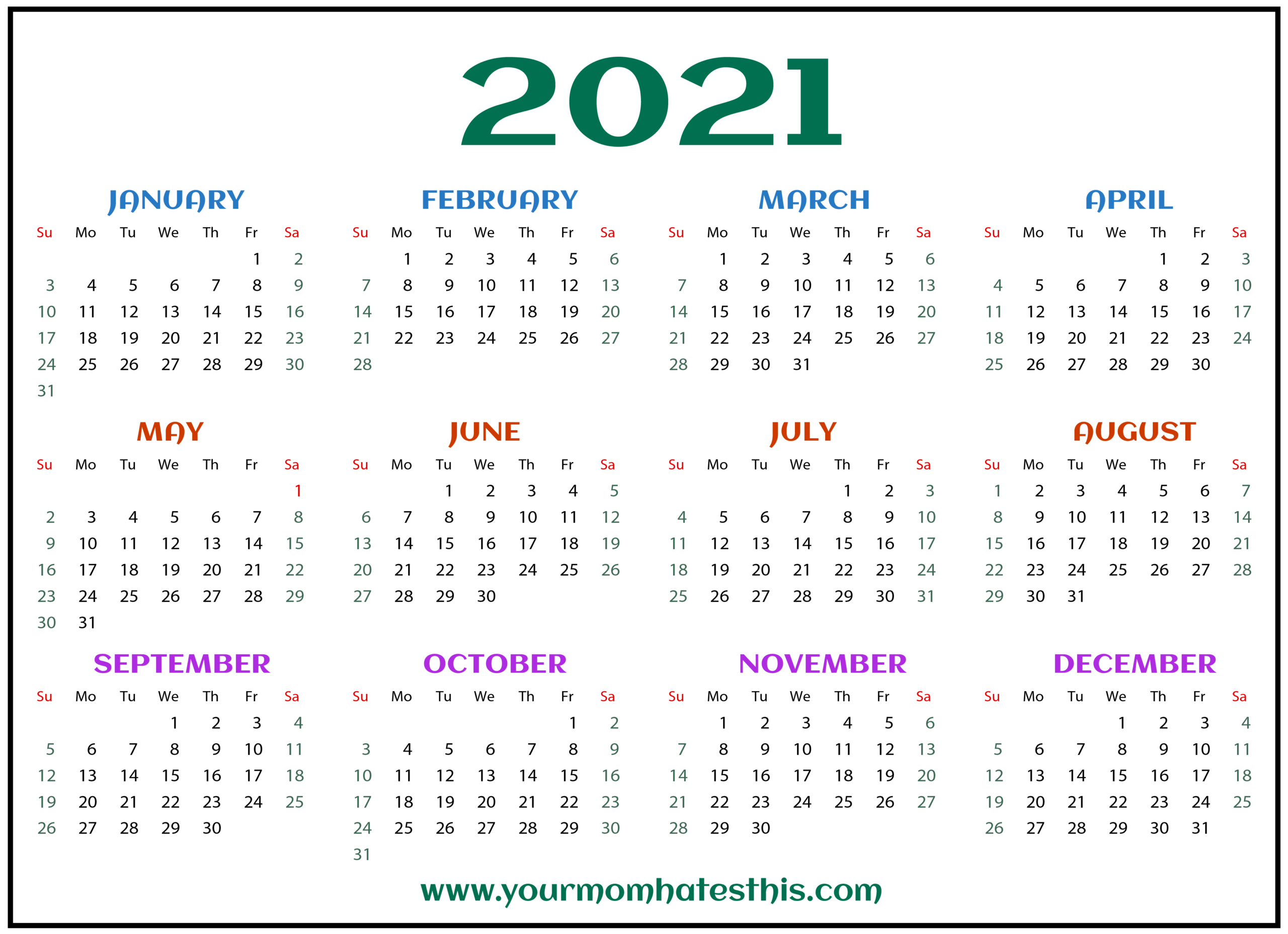 Get 2021 Calendars For Business Purposes