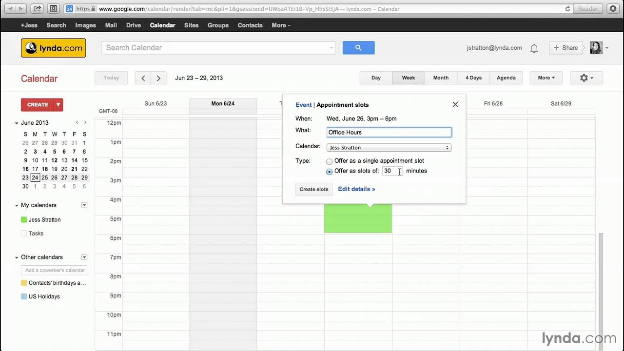 Google Calendar Tutorial: Creating Appointment Slots