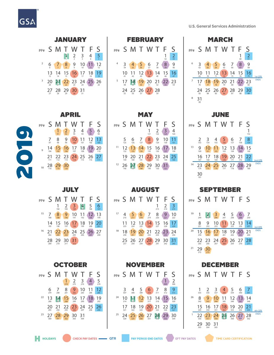 Gsa 2020 Pay Period Calendar | Free Printable Calendar