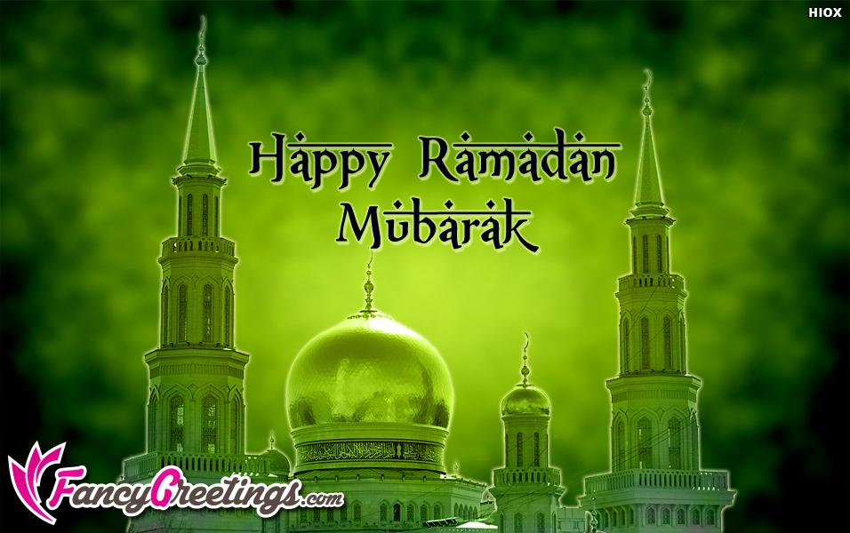Happy Ramadan Mubarak Greetings Ecard / Greeting Card @ Fancygreetings