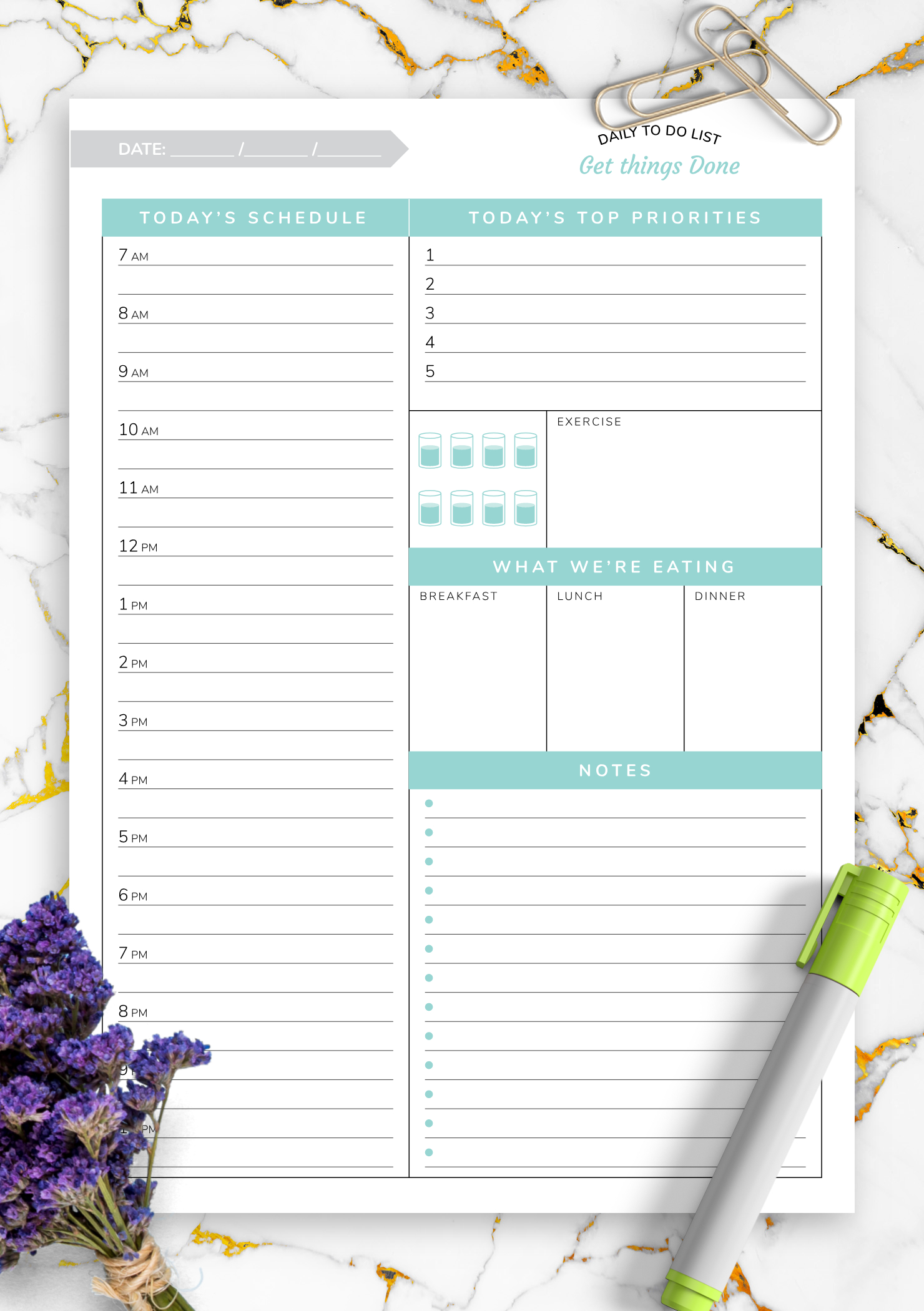 Hourly Planner Daily Template This Is How Hourly Planner