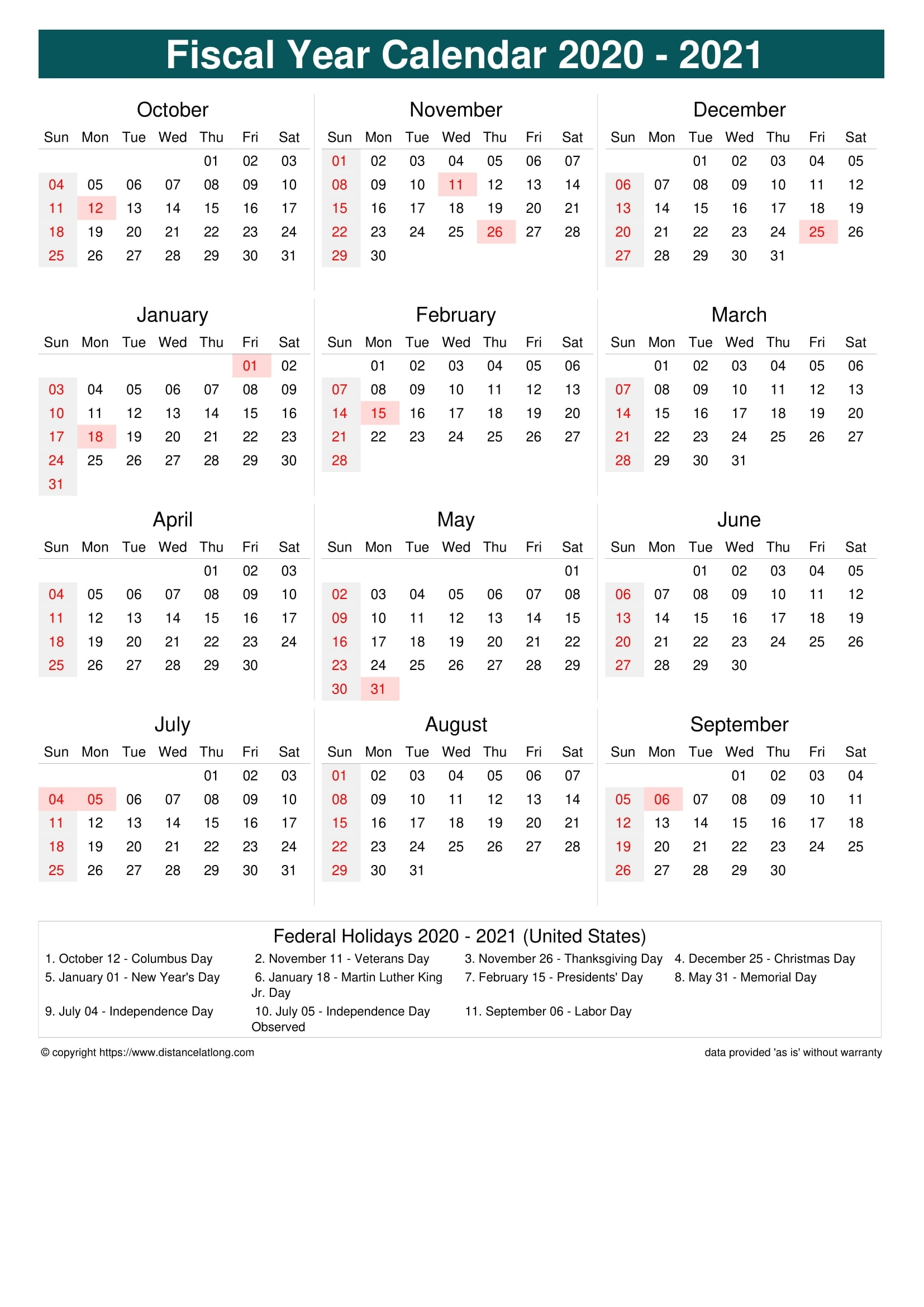 How Many Days In 2021 Financial Calendar 2021-2021