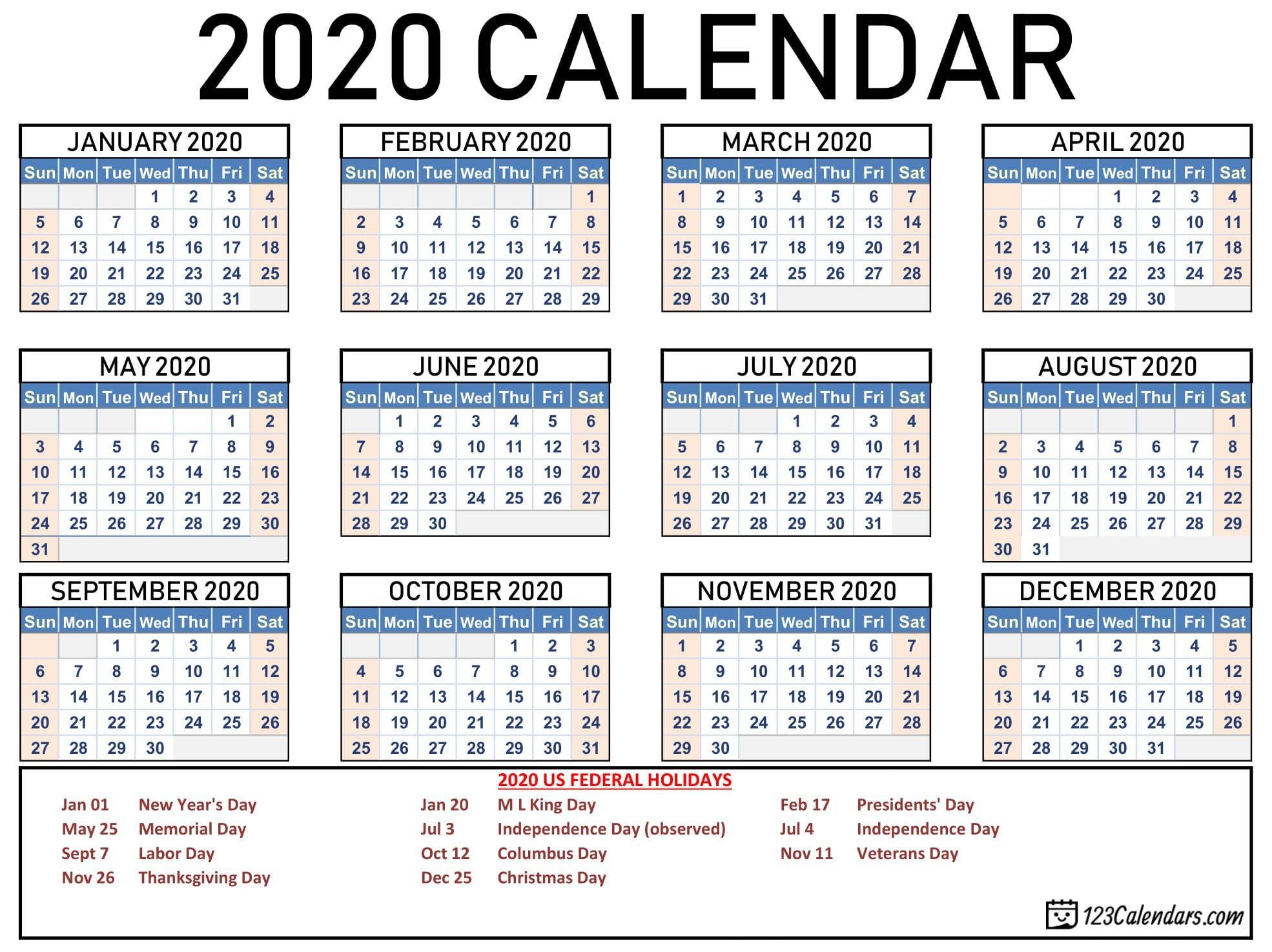 How To Free 2020 Checkbook Size Calendar Same Size As A
