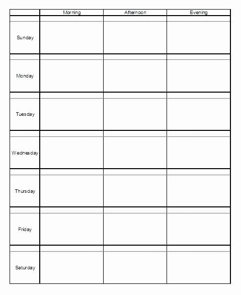 Inspirational Monday Through Friday Schedule Template In 2020 | Schedule Template, Daily