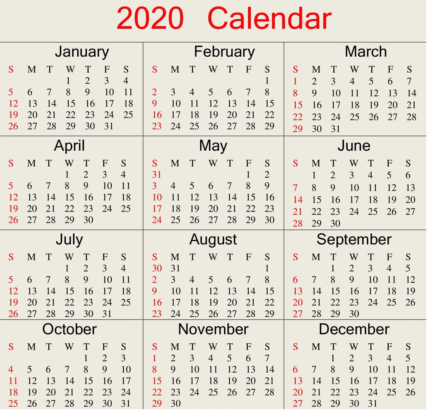 Julian Calendar 2020 Excel | Free Printable Calendar