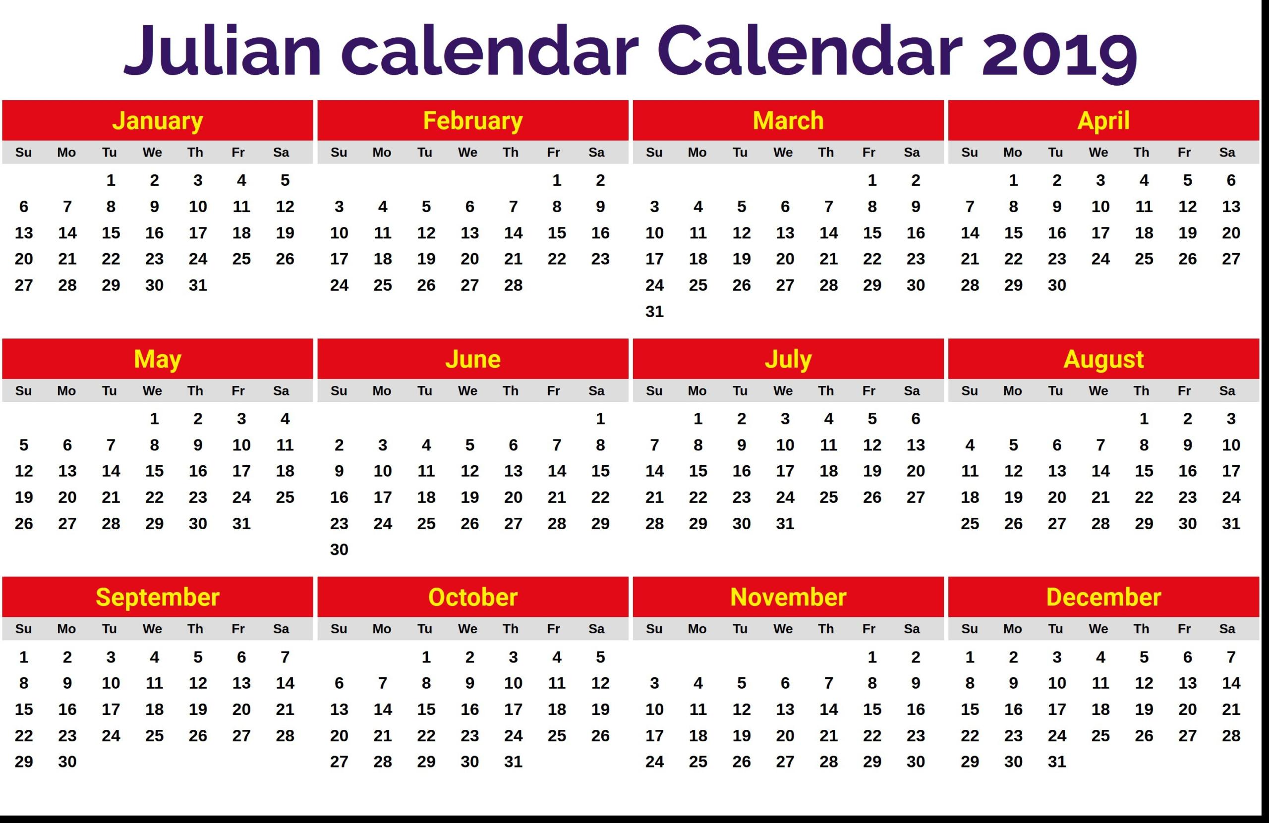 Julian Date 2020 Printable   Example Calendar Printable