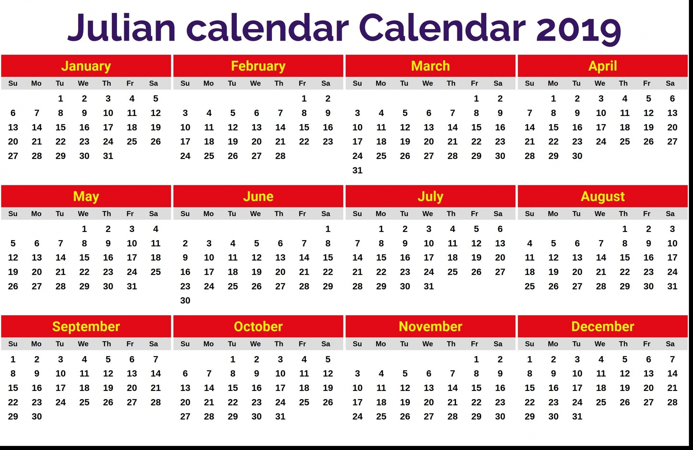 Julian Date Calendar Pdf   Free Letter Templates