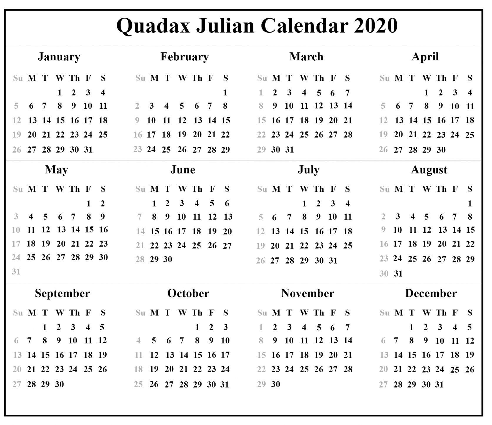 Julian Day - Free Download Printable Calendar Templates
