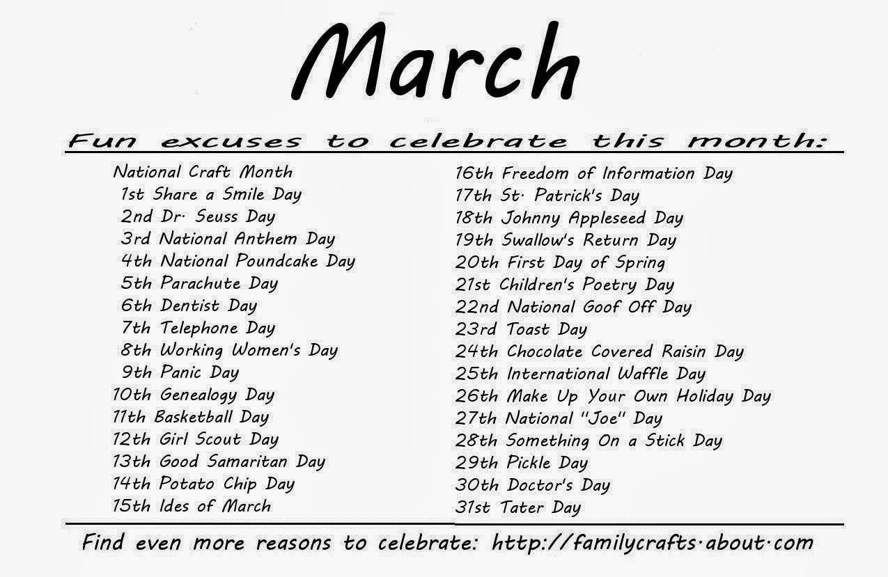 Kindergarten And Mooneyisms: Special Days - March