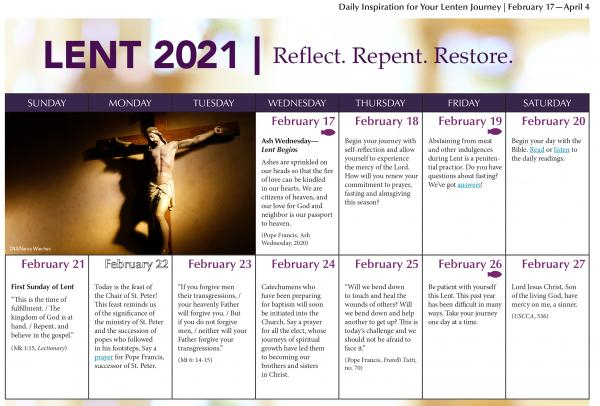 Lent - Diocese Of Manchester