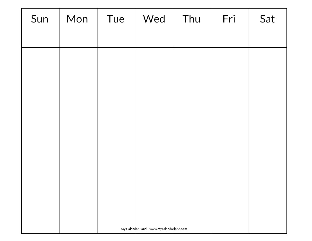 Lovely Days Of The Week Calendar Printables | Free