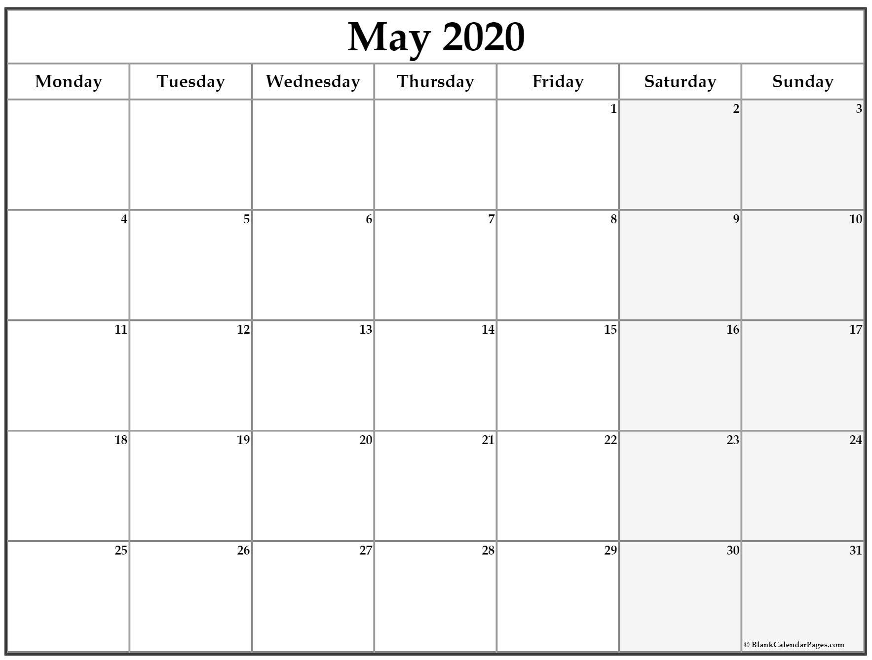 Monday To Sunday Planner   Ten Free Printable Calendar