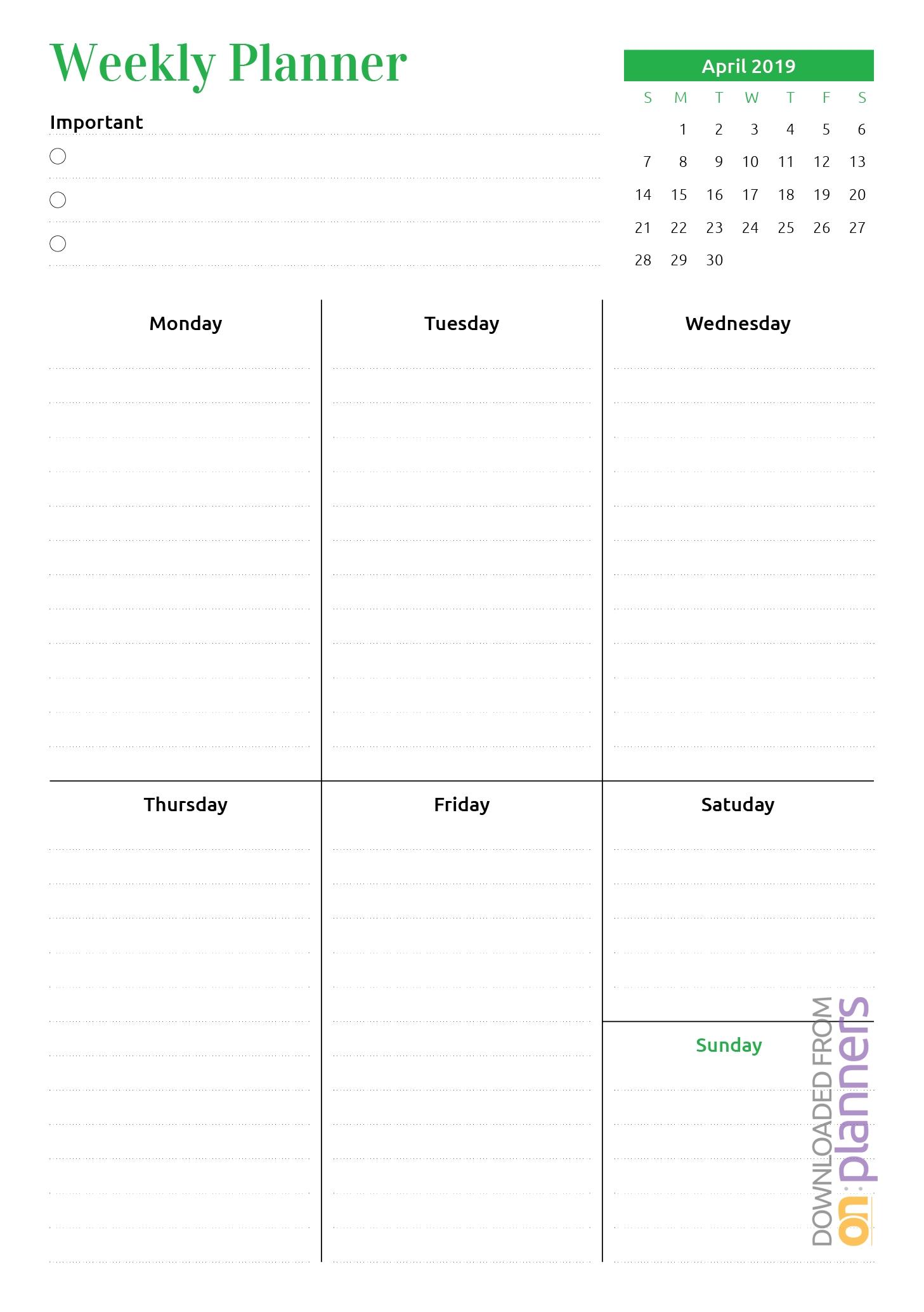 Month At A Glance Blank Calendar   Calendar Template Printable