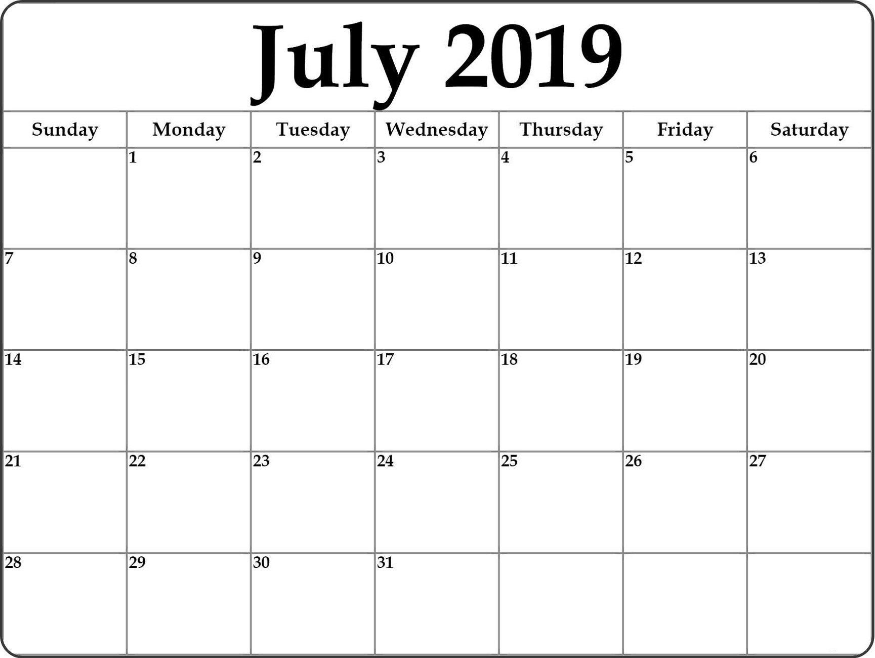 Month At A Glance Blank Calendar Template - Calendar