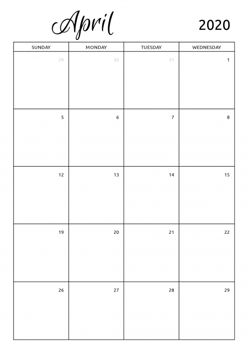 Monthly Calendars To Print And Fill Out Graphics