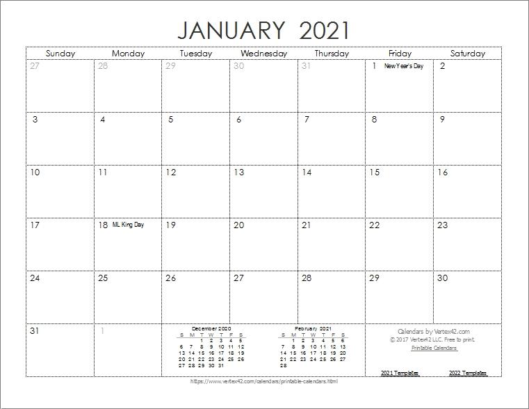 Monthly Planner 2021 Printable Full | Calvert Giving