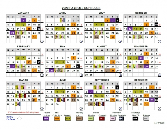Opm 2020 Pay Period Calendar | Printable Calendar Template