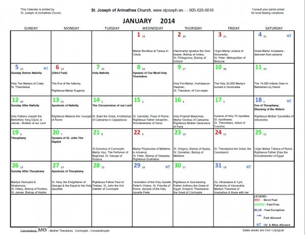 Orthodox Fasting Calendar | Orthodox Calendar, Sunday