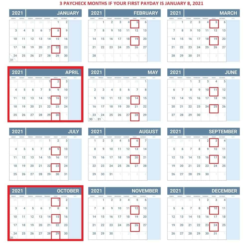Pay Period Calendar 2021   Calendar Template Printable