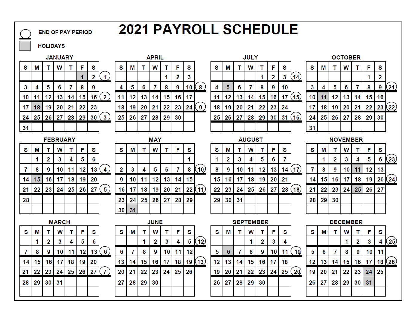 Pay Period Calendar 2021 / Your Pay / This Can Be Very