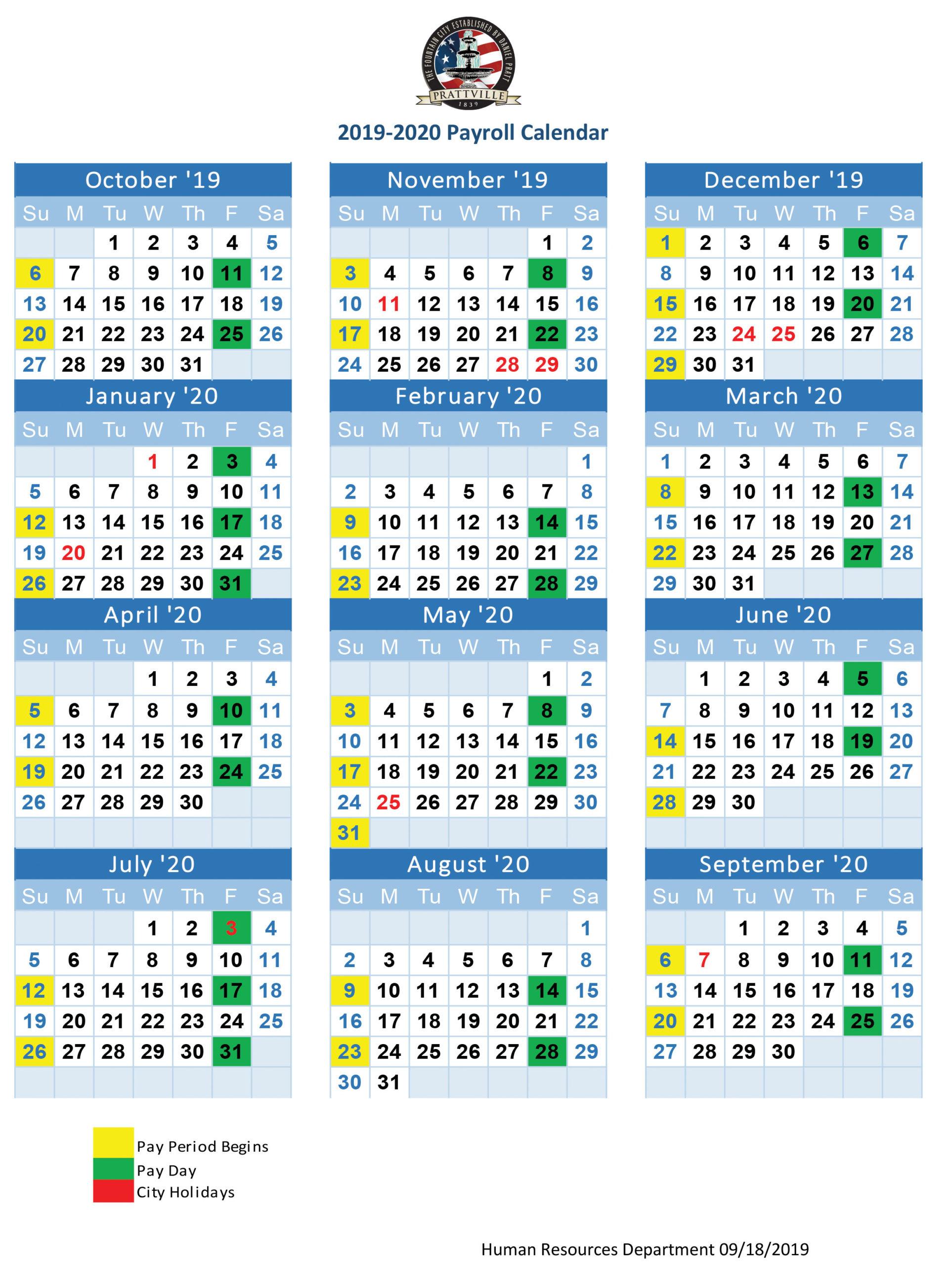 Payroll Calendar Government - Payroll Calendar 2021