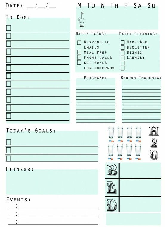 Pinwendy Parker On Great Stuff!   Planner Pages