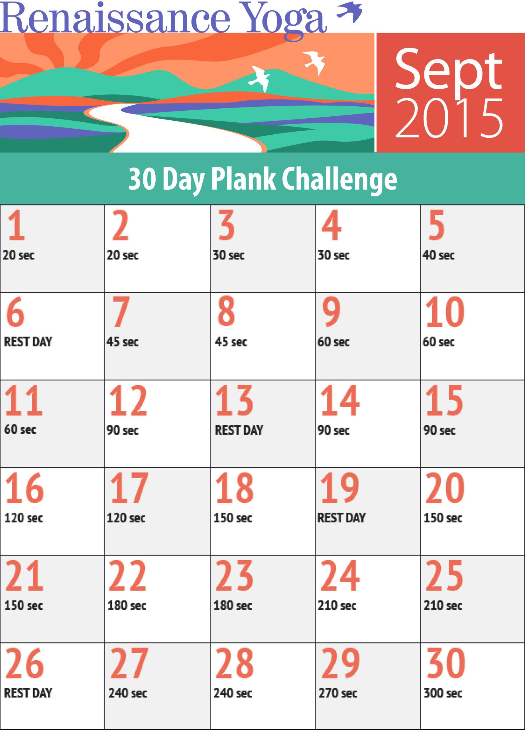 Plank Challenge: Sep 2015