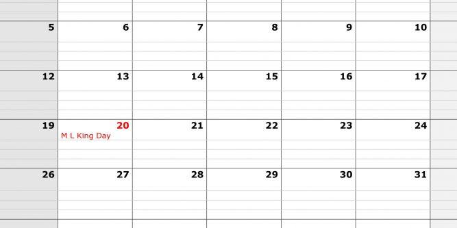 Printable 2020 Calendar With Large Boxes   Free Printable