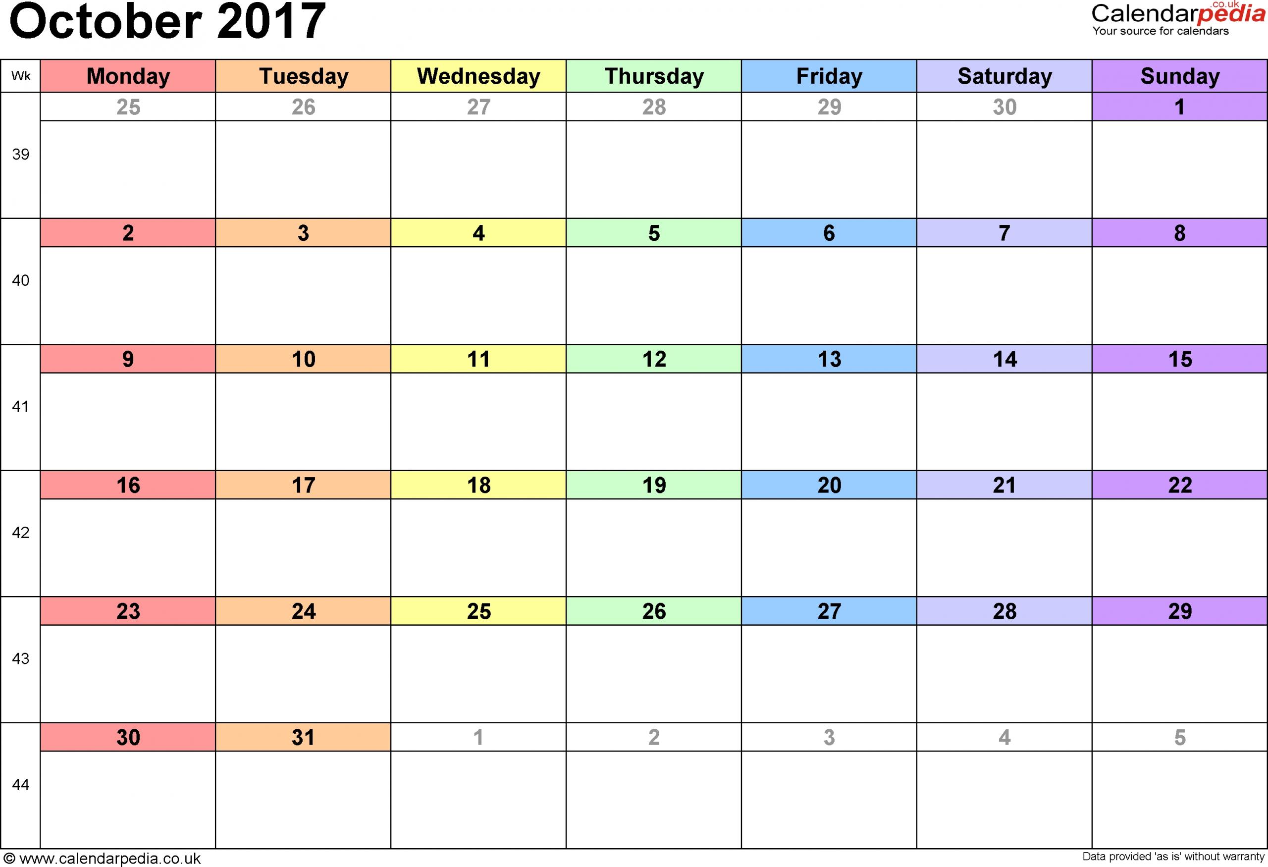 Printable 31 Day Calender | Printable Calendar Template 2020