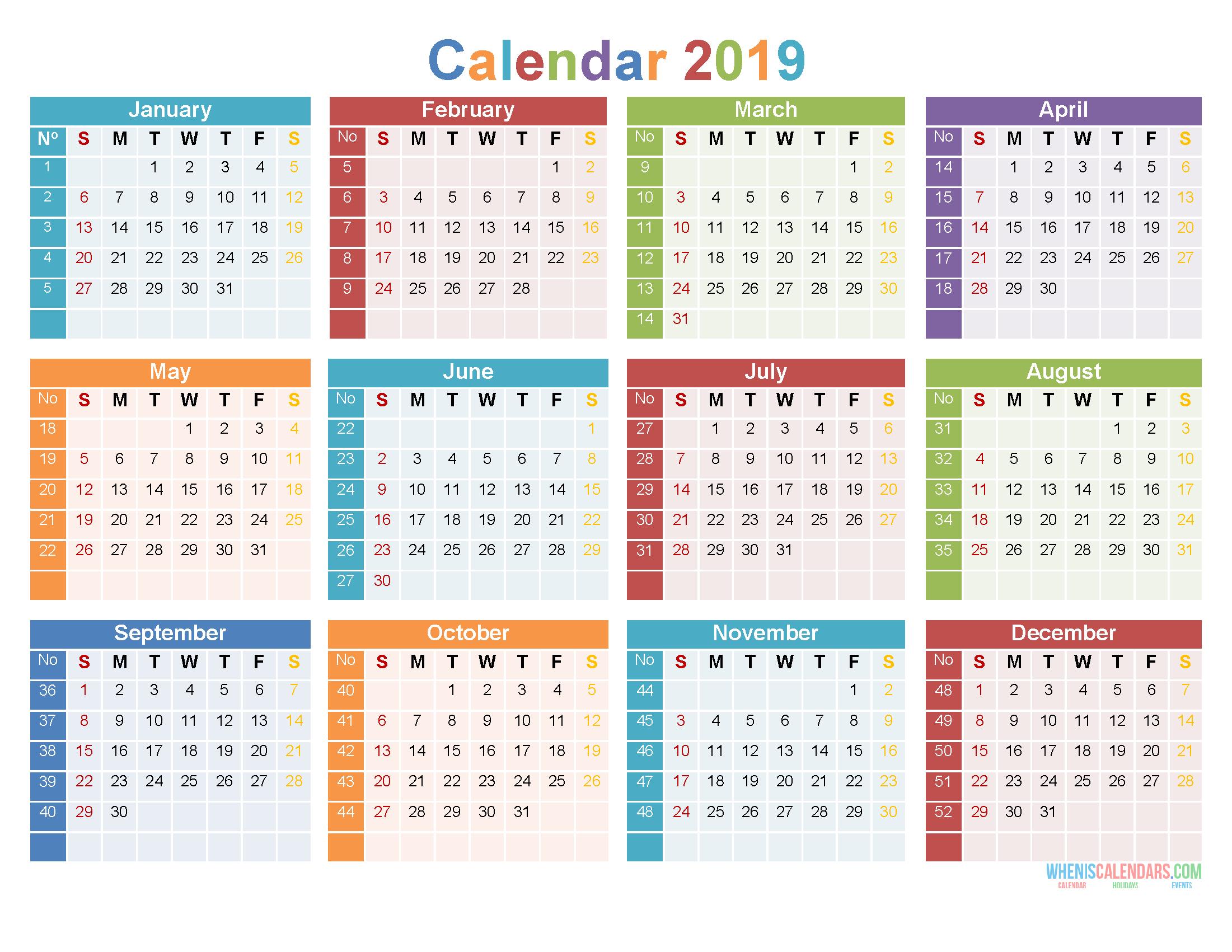 Printable Calendar With Large Numbers   Calendar Template