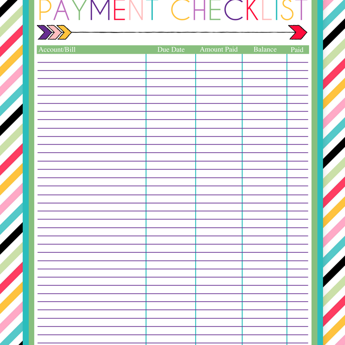 Printable Spreadsheet For Monthly Bills | Tutore - Master Of Documents