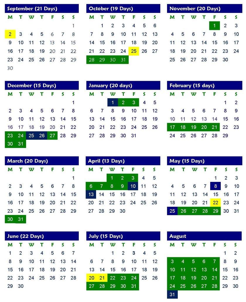 Pshe Special Days Calender 2020   Calendar Template