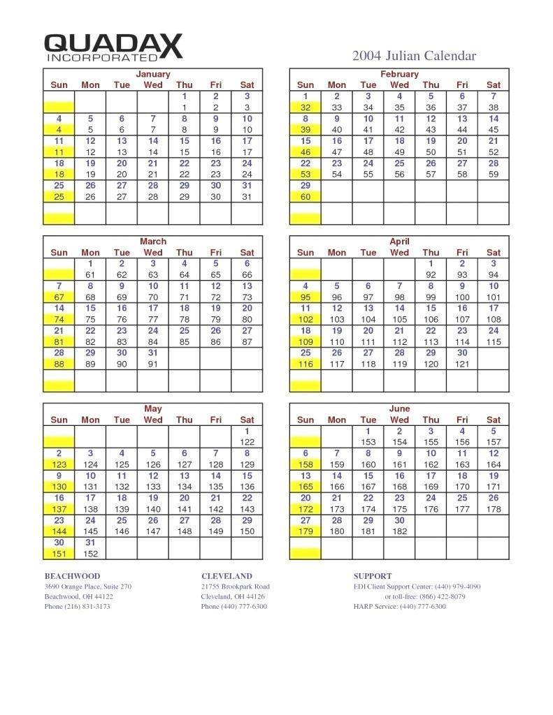 Quadax Julian Date Calendar 2021 - Calendar Template 2020