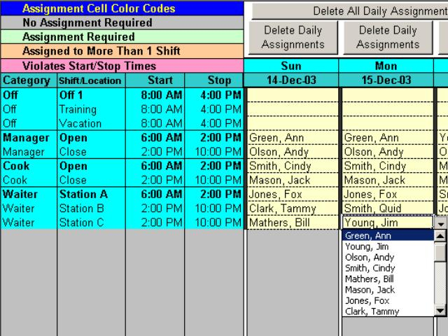 Schedule Split Shifts For Your Employees With Excel - The
