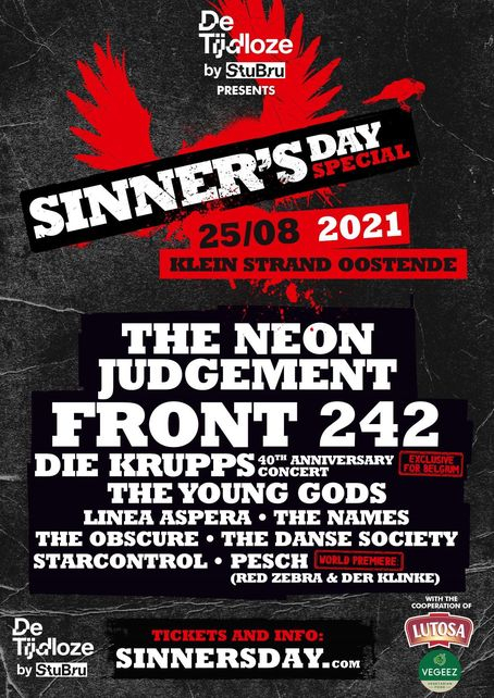 Sinner'S Day Special 2021 Oostende Line-Up, Tickets & Dates Aug 2021 - Songkick