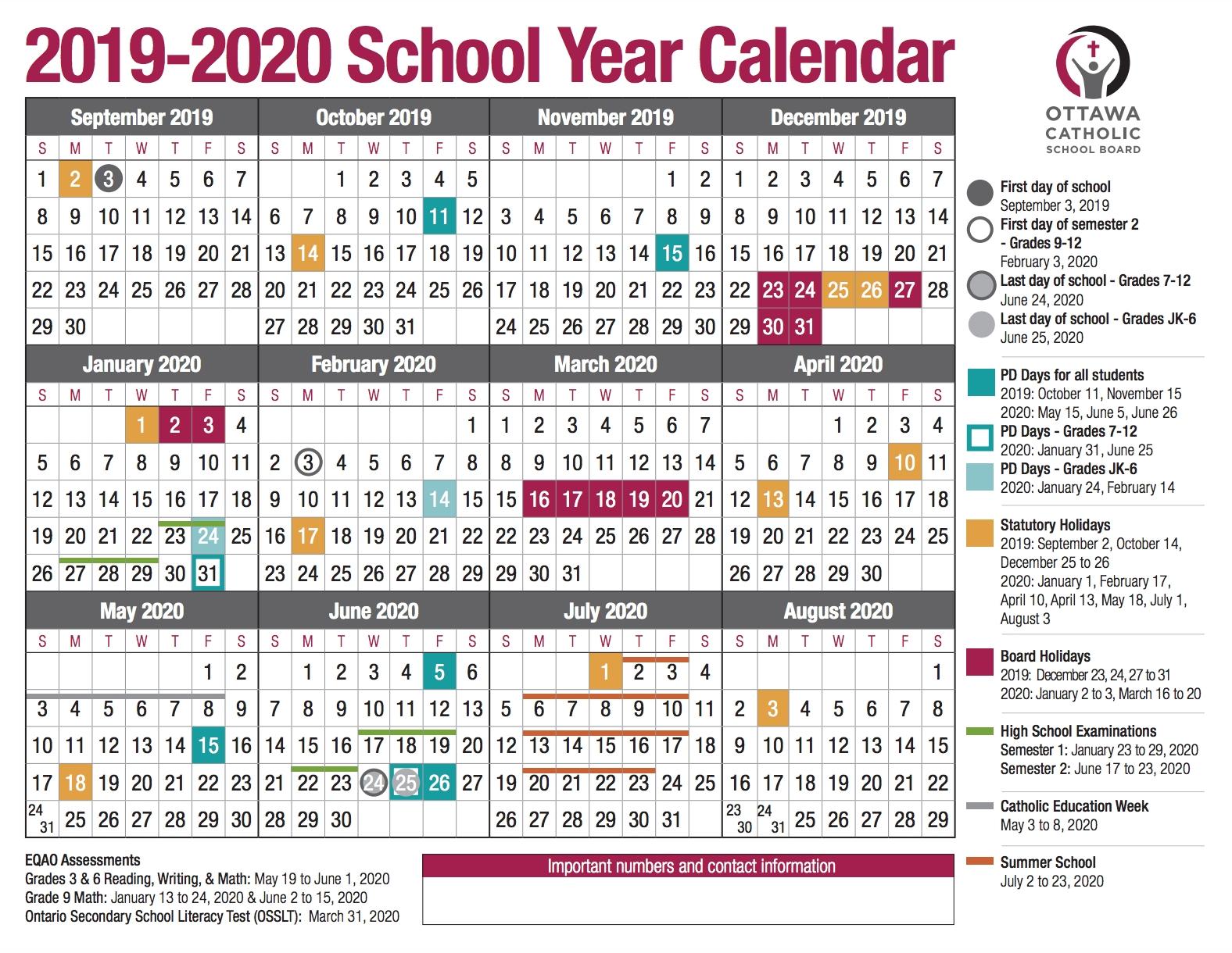 Special Days Calendat 2019 For Schools - Calendar