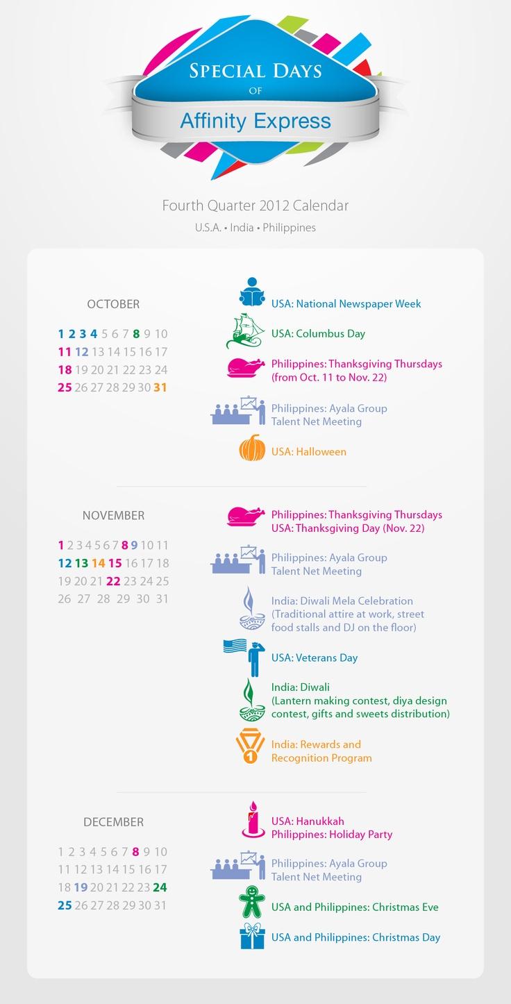 Special Days Of Affinity Express (Calendar For Oct, Nov