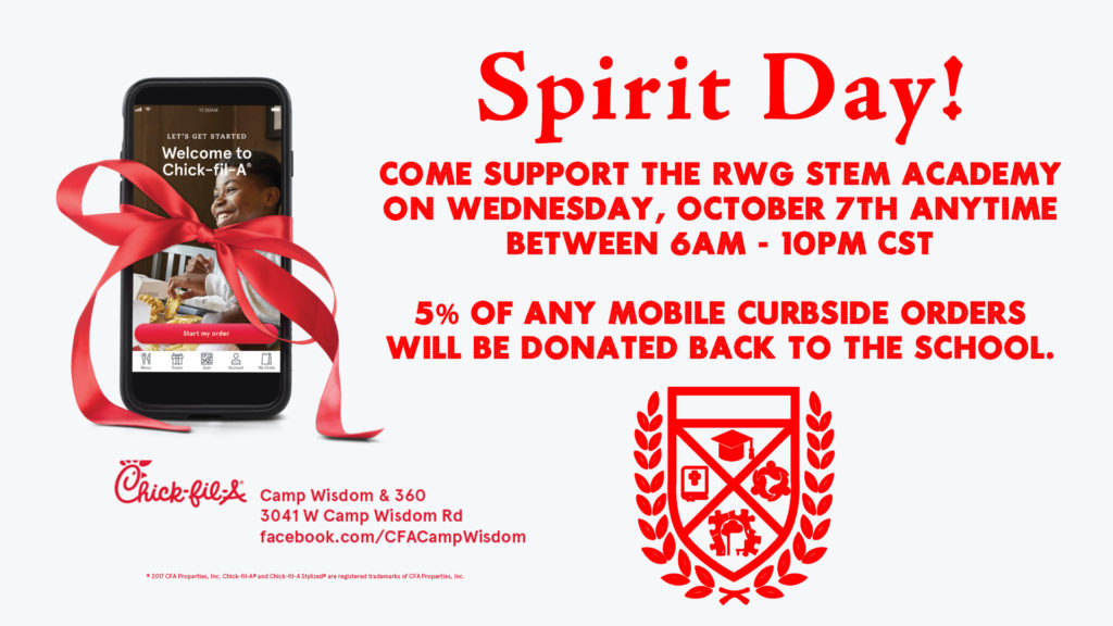 Spirit Day At Chick-Fil-A - Dr. R.w. Goines Stem Academy