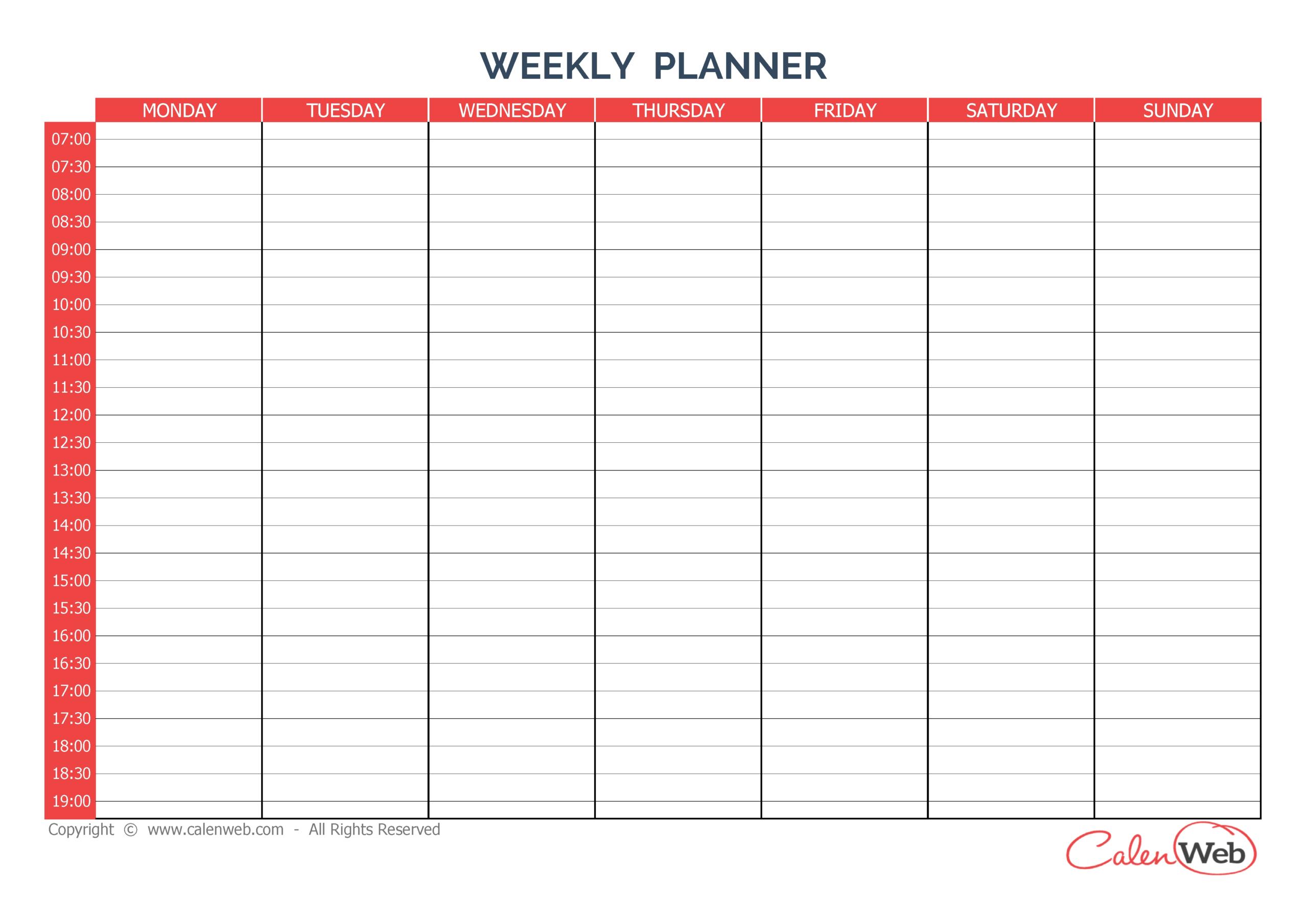 Sunday Through Saturday Calendar | Calendar Printables