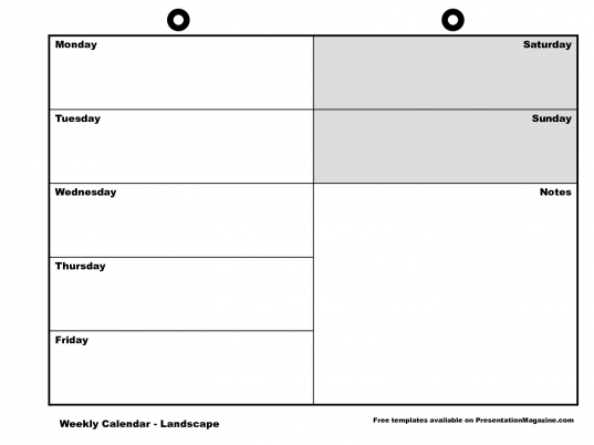 Sunday To Saturday Week Printable Calendar | Printable