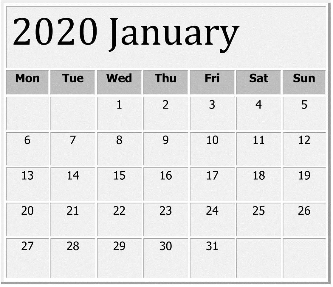 Take Free Printable Large Numbers Calendar 2020   Calendar