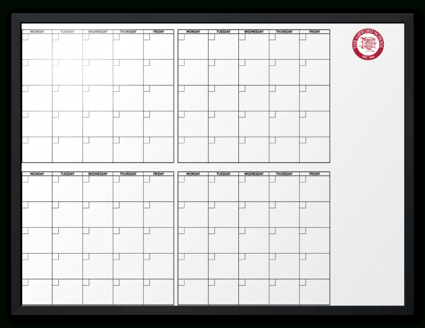 The Gifford School Customized 4-Month-At-A-Glance Calendar