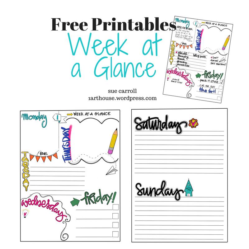 Week At A Glance / Free Printable - 1Arthouse
