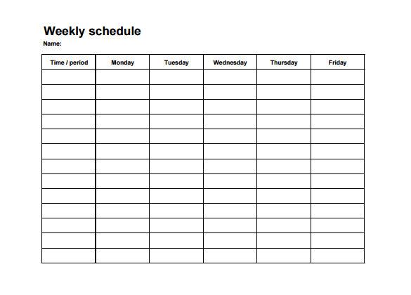 Weekly Employee Shift Schedule Template Excel - Task List