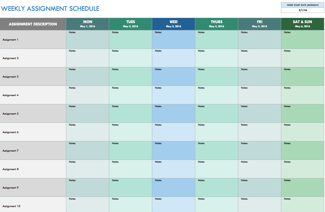 Weekly Hours Spreadsheet — Db-Excel