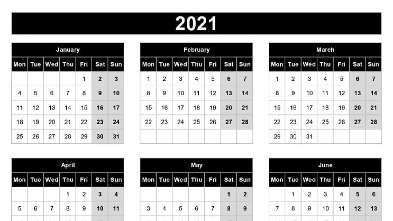 Weeks Calendar 2021 For Tasks | Calendar Page