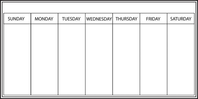 Whiteboard Weekly Calendar Wall Decal - Contemporary