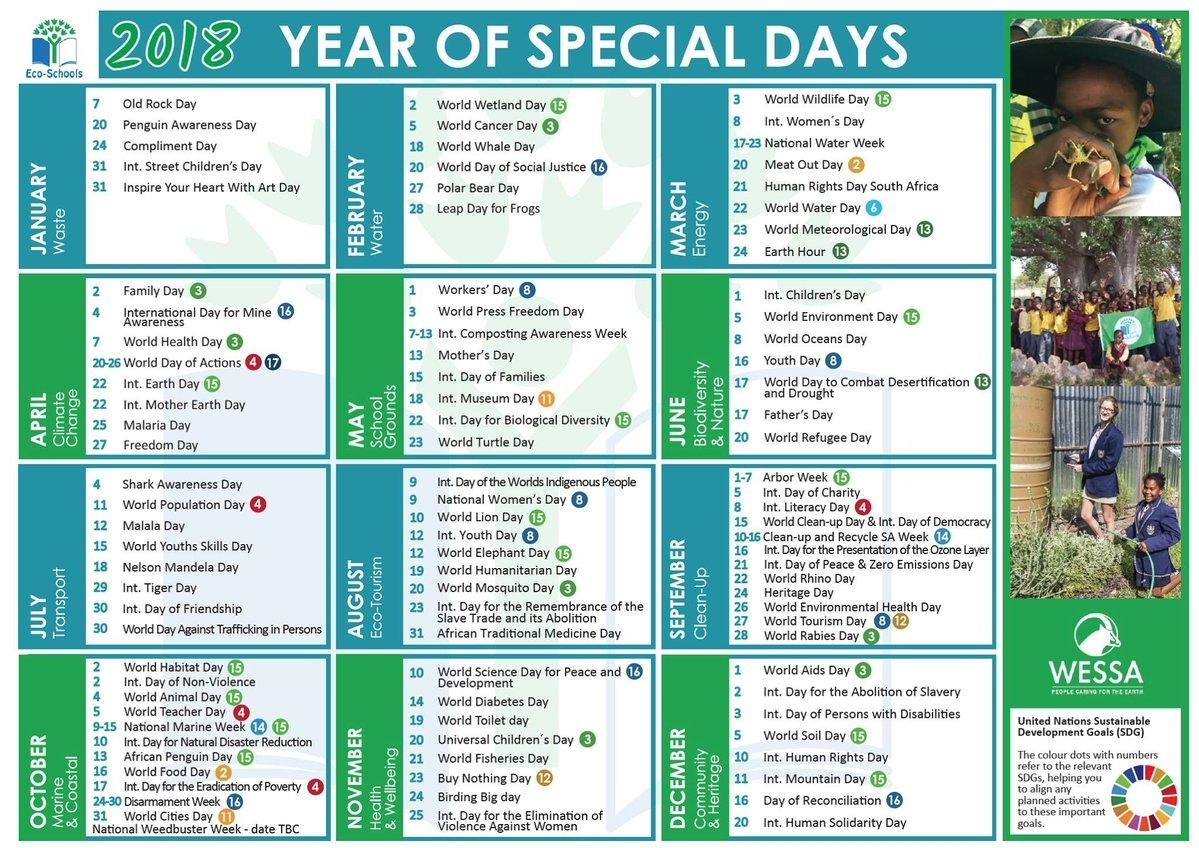 Year Calendar Special Days | Ten Free Printable Calendar