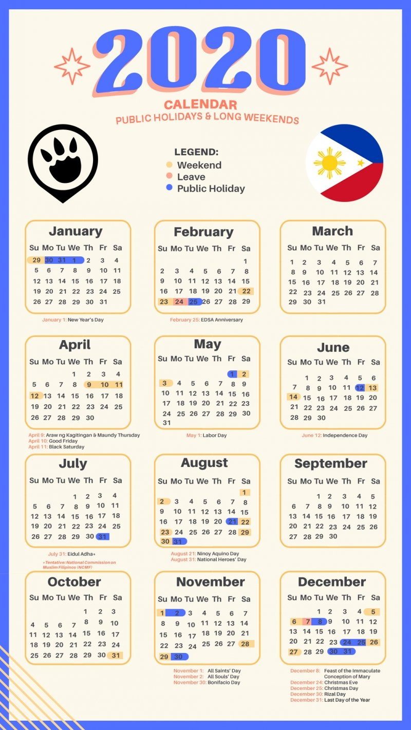 Yearly Calendar Of Special Days 2020 | Calendar Template